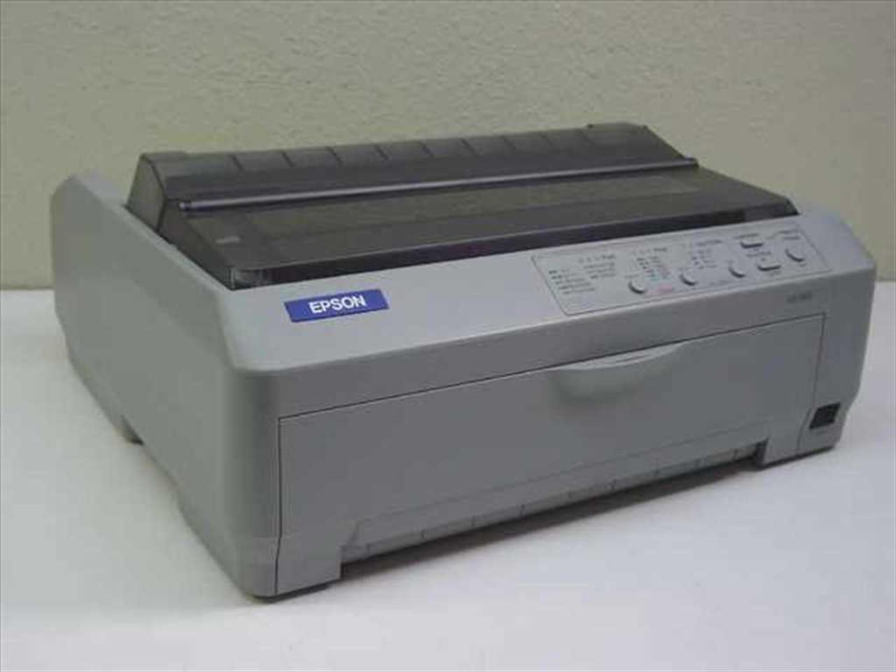 Epson LQ-590 Dot Matrix Printer - Missing Plastic Cover P363A