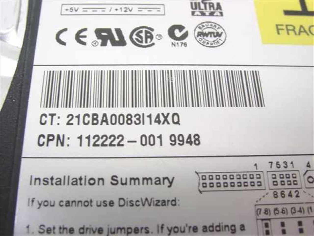 Compaq 11222-001 4 3GB 3 5
