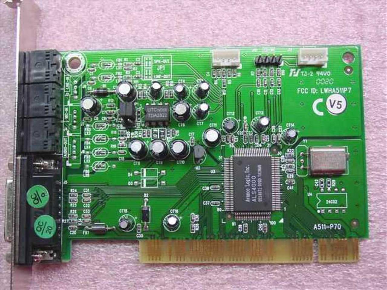 Advance Logic PCI Sound Card Driver UPDATE