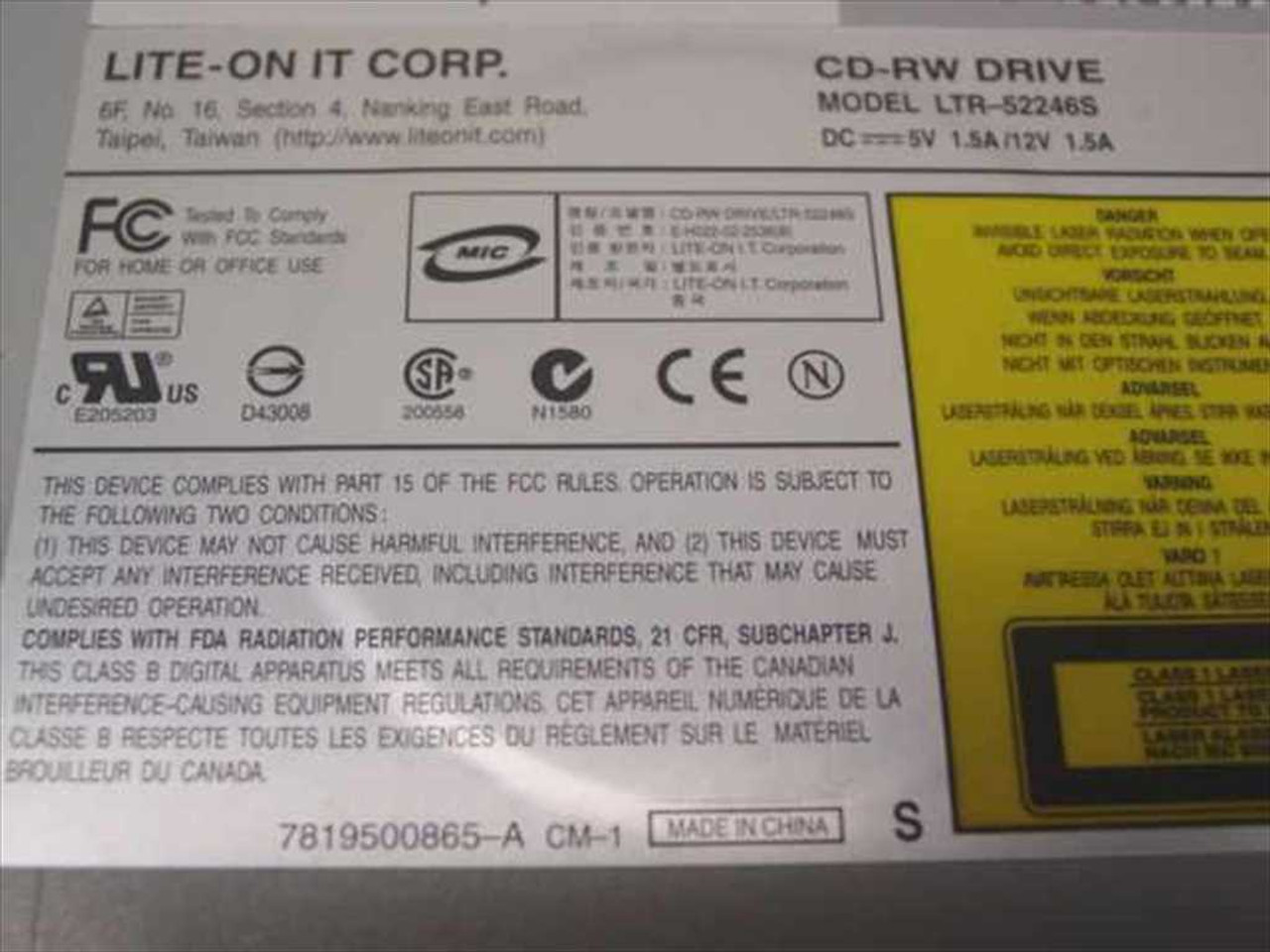 LITE-ON LTR 52246S DOWNLOAD DRIVER