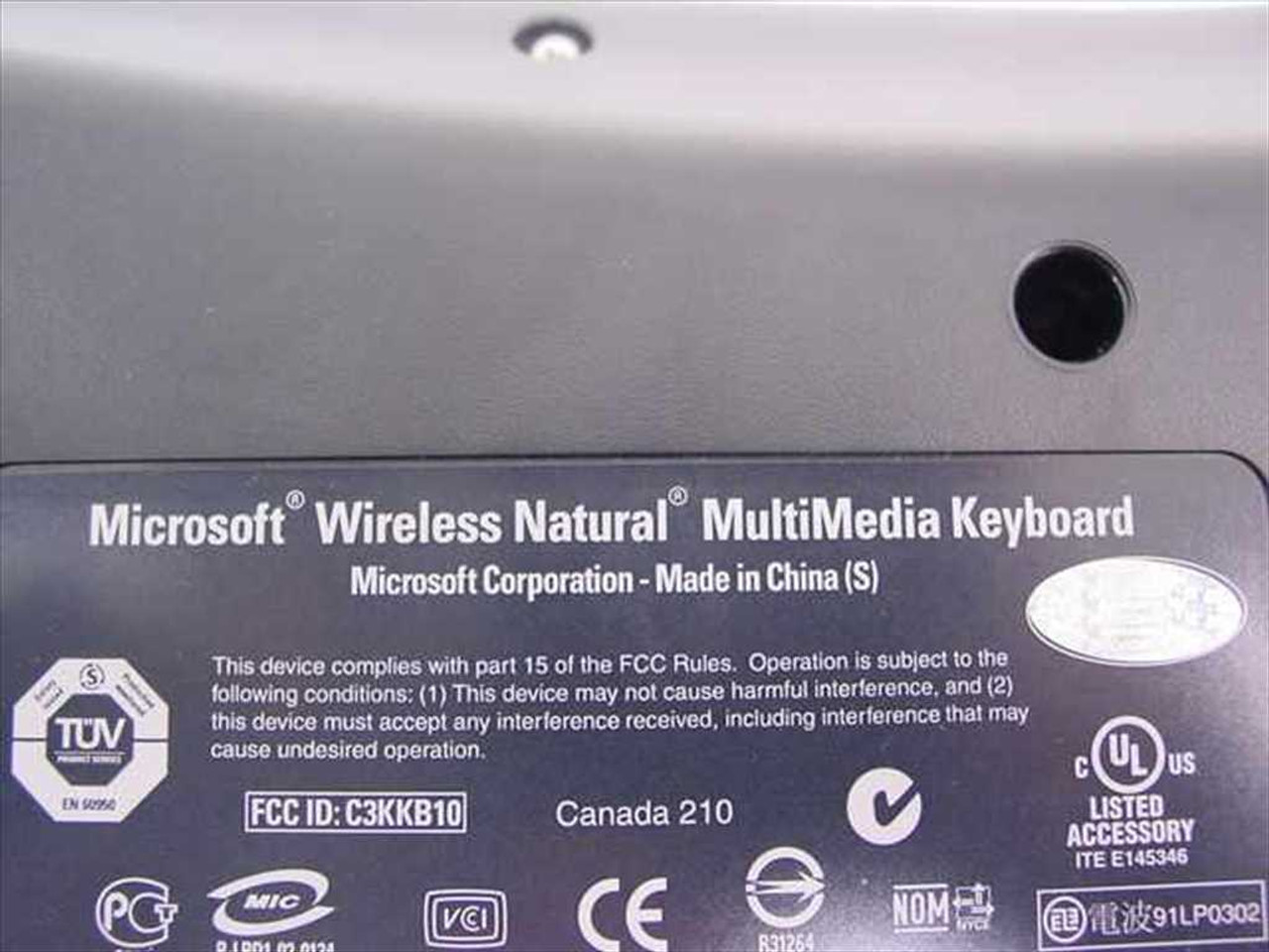 ca048694ef0 ... Microsoft X09-55569 Wireless Natural MultiMedia Keyboard ...