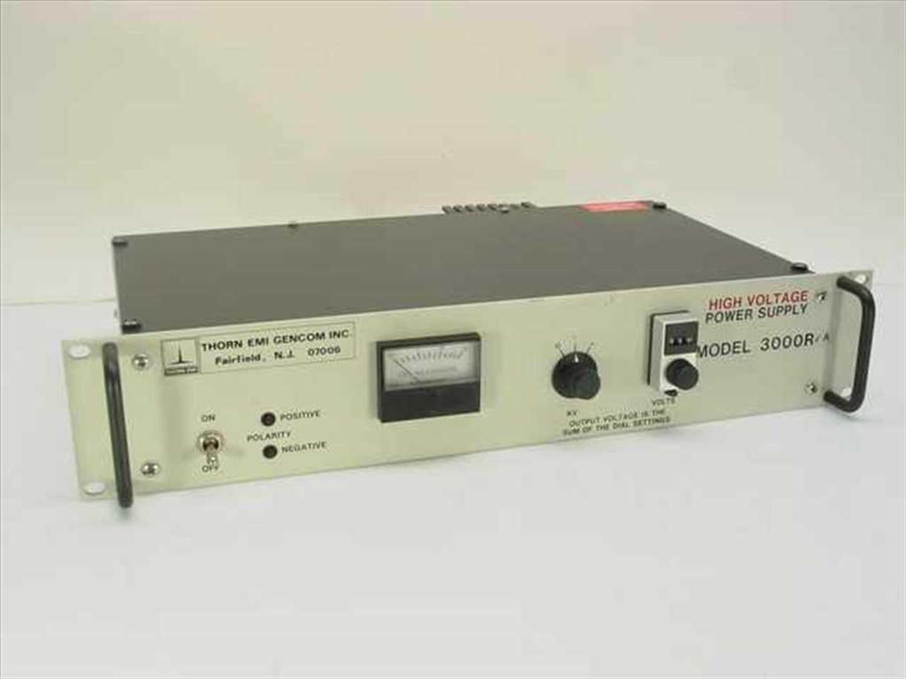 Thorn EMI Gencom Inc 3000R High Voltage Power Supply 0-3 kV DC