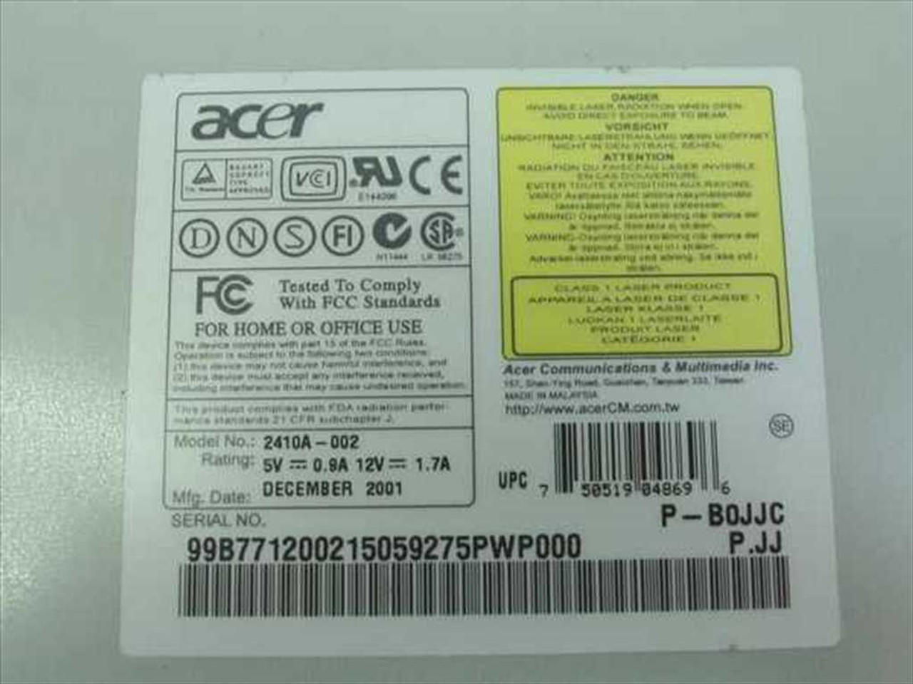 ACER 2410A DRIVER