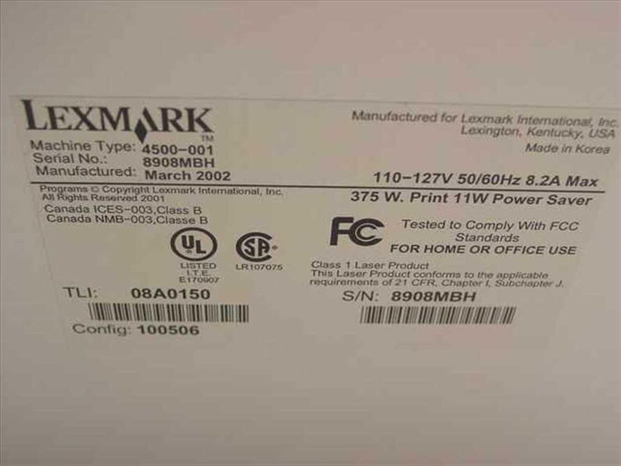 Lexmark 4500-001 Laser Printer E320 New in Box no Toner