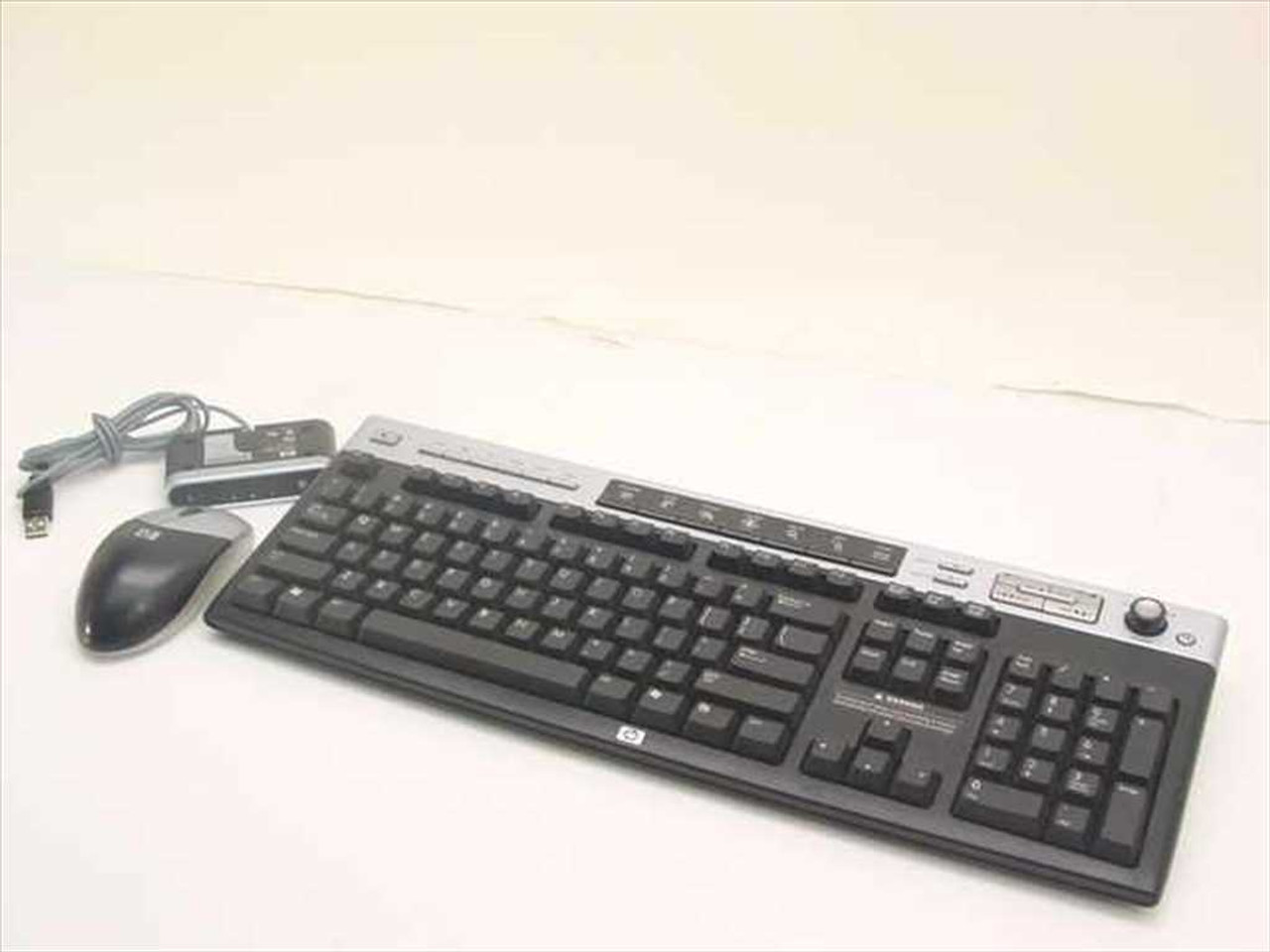 HP 5187-5998 Wireless Keyboard, Mouse & Receiver - 5129URF 2&