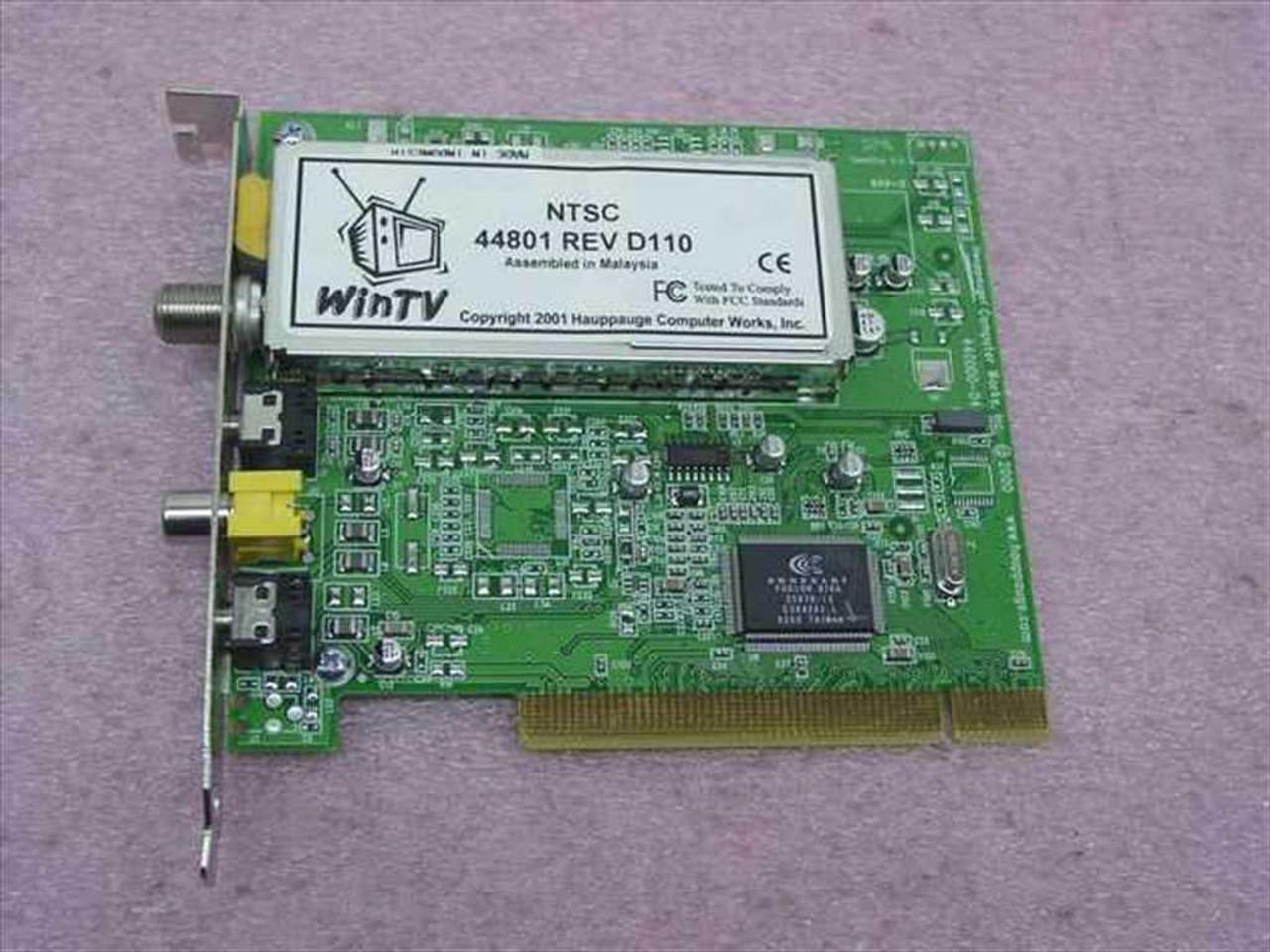 HAUPPAUGE WINTV 44801 DESCARGAR CONTROLADOR