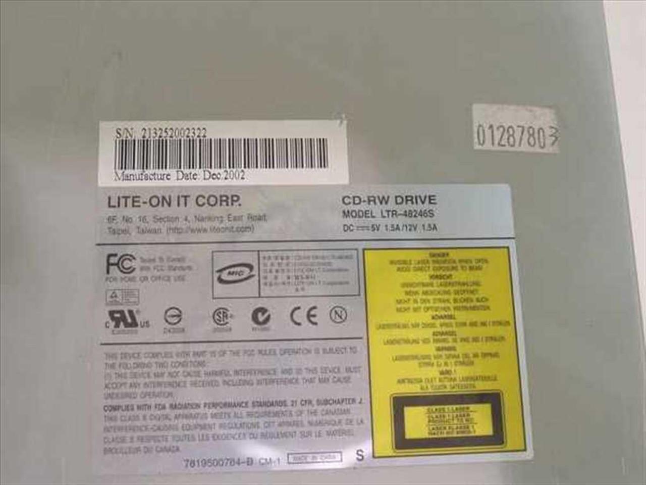 LITE-ON LTR 48246S TREIBER WINDOWS XP