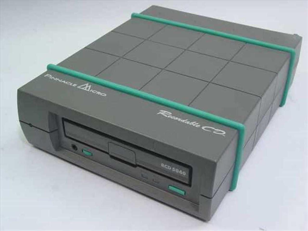 Pinnacle Micro RCD 5040 External Recordable CD rom Drive SCSI-1