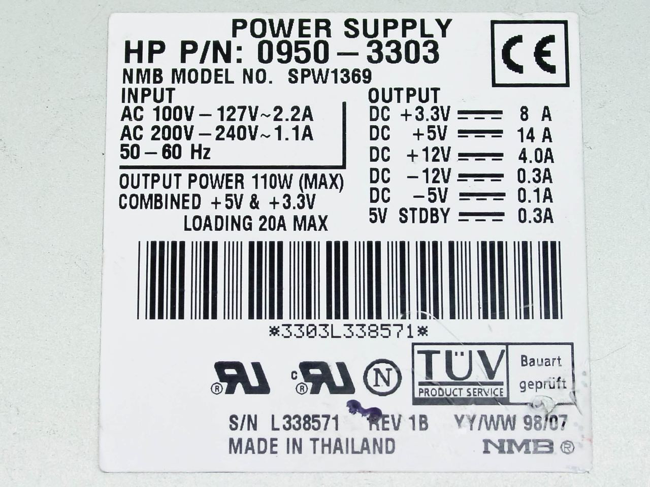 Power Supply 0 12v 07a Max 2a