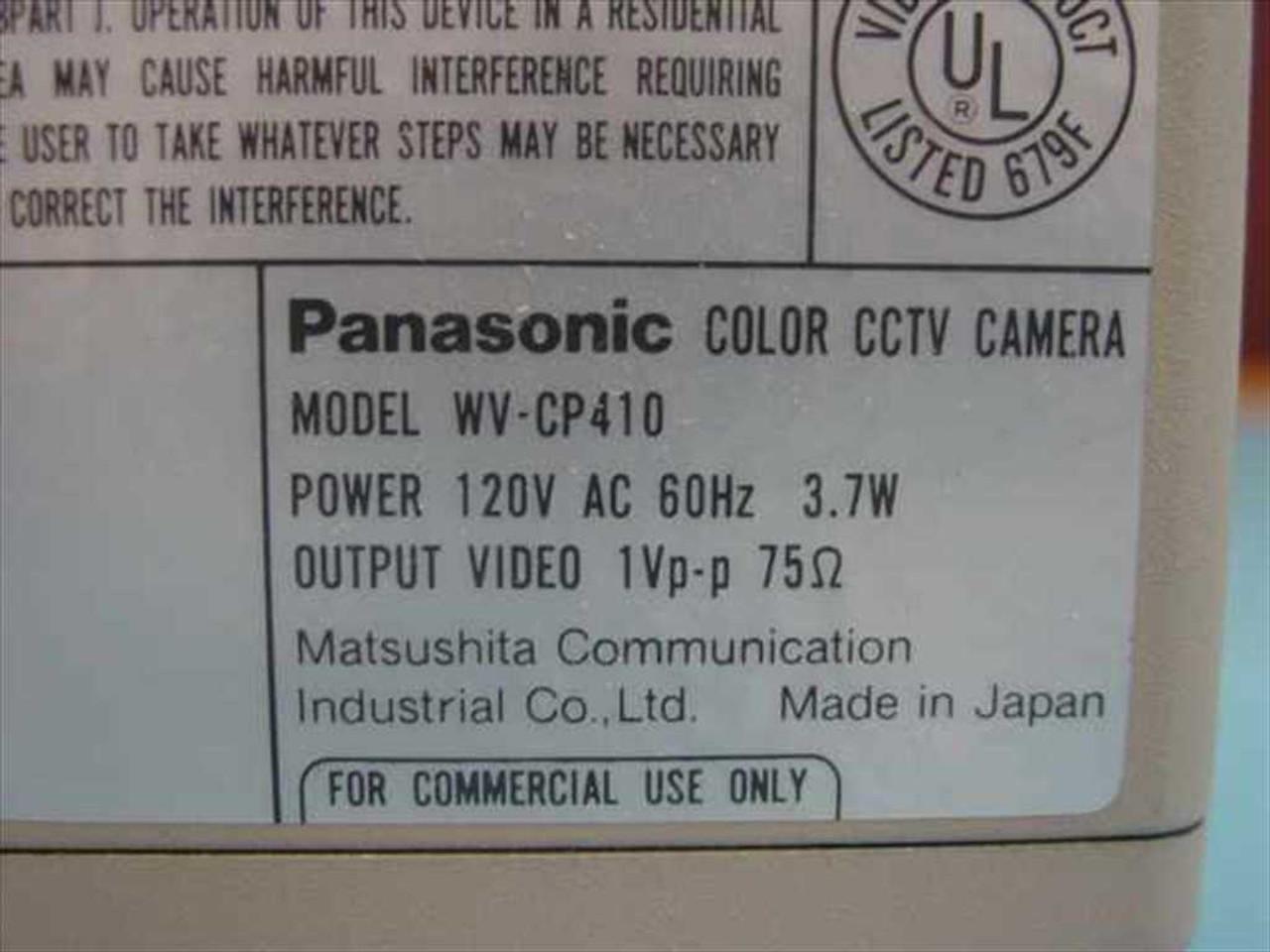 Panasonic WV-CP410 CCTV Surveillance Color CCD Camera with Lens