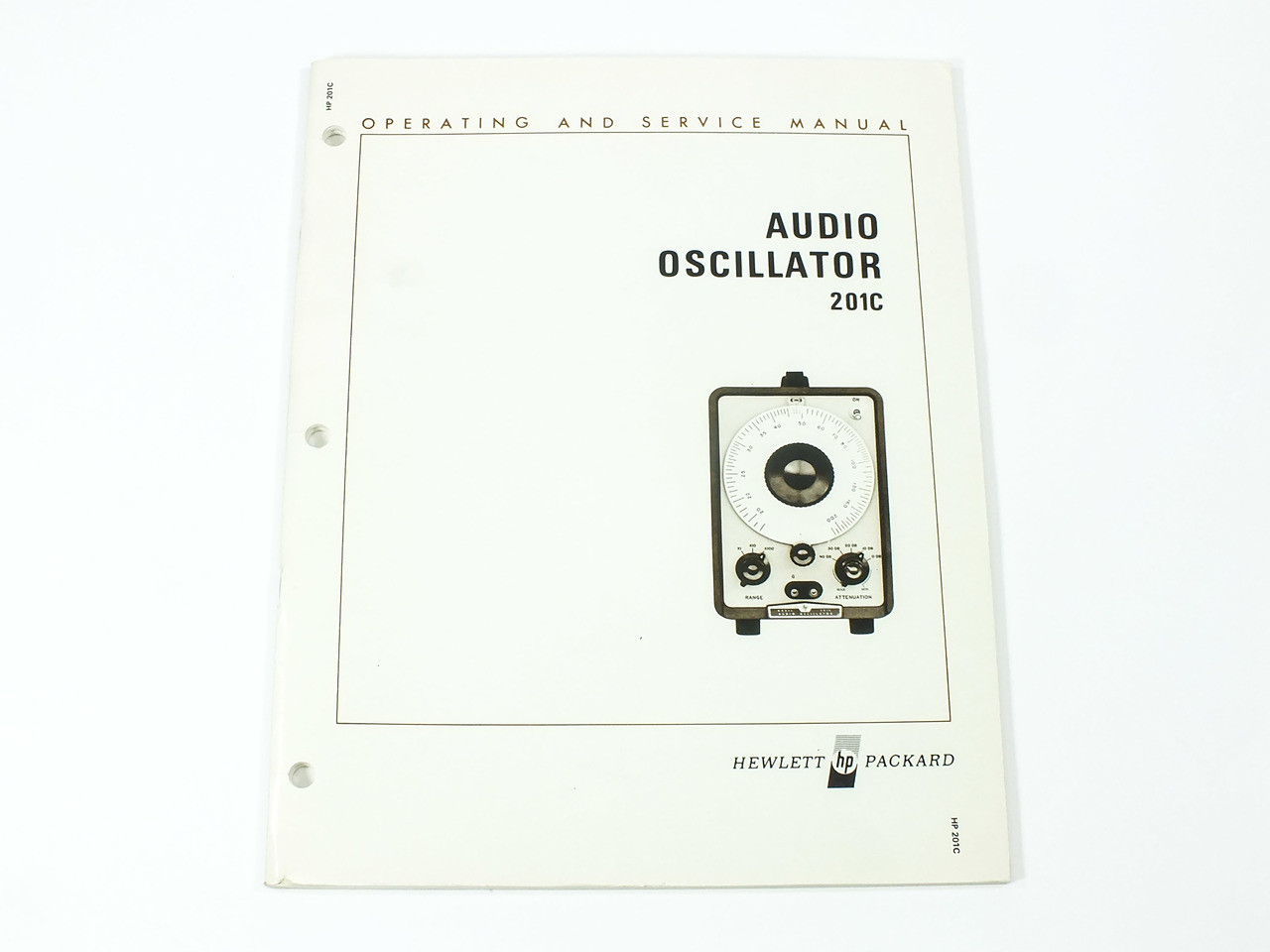 HP 201C Audio Oscillator Operating and Service Manual