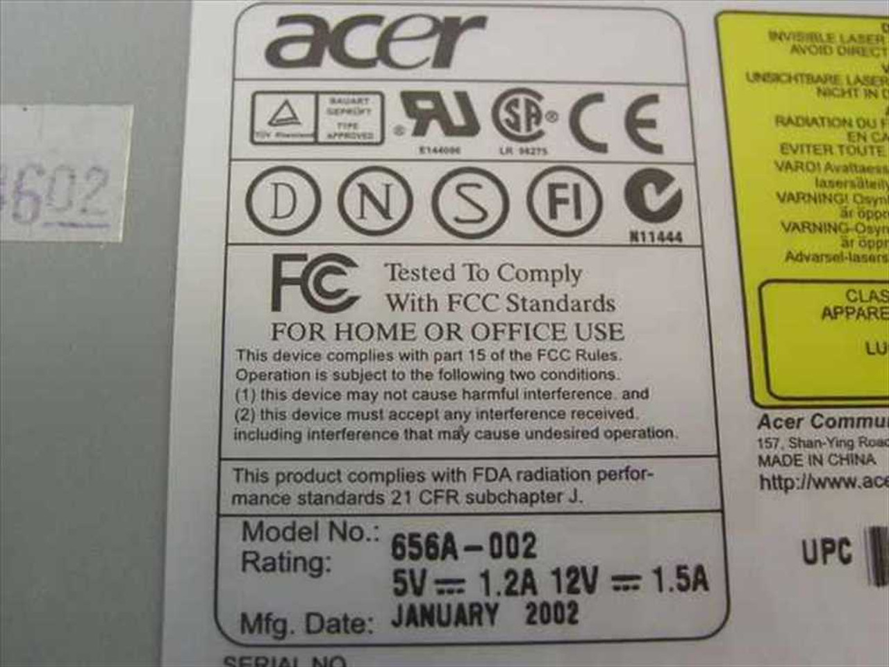 ACER CD-656A DRIVERS DOWNLOAD