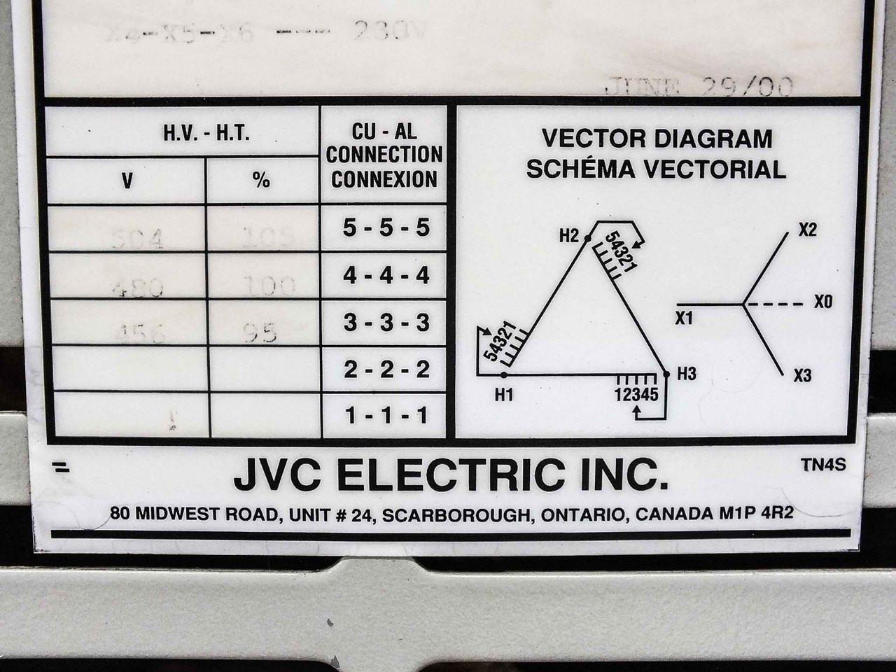 jvc electric dh3-15b-54c dry-type 15 kva general purpose transformer  480v