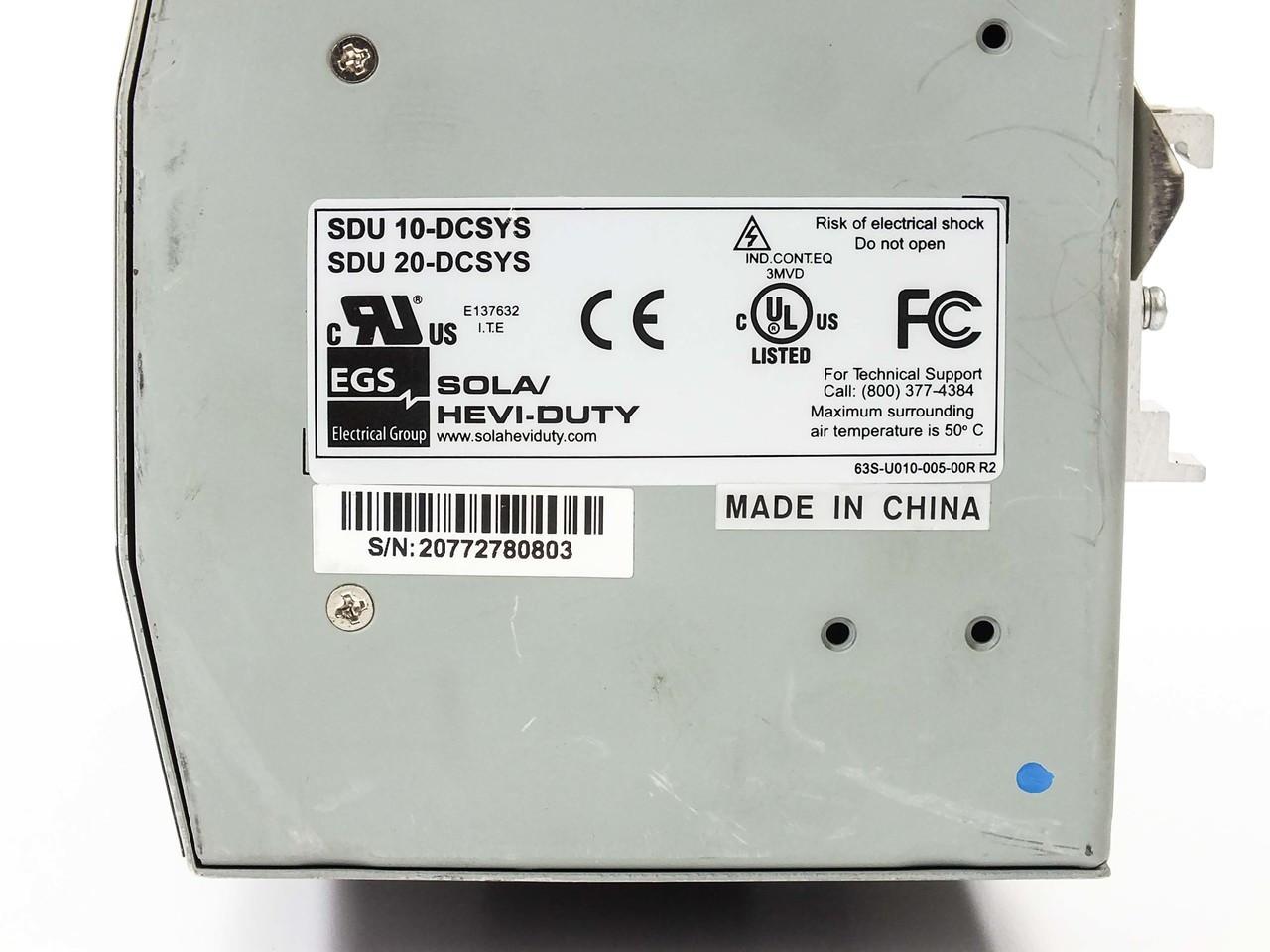 SOLAHD SDU 24 BATSDU DIN Rail DC UPS Series SDU 10-DCSYS