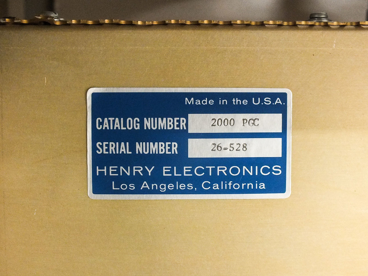 Henry Electronics 2kW RF Deck Amperex 4-125A Tube with Enclosure (2000 PGC)