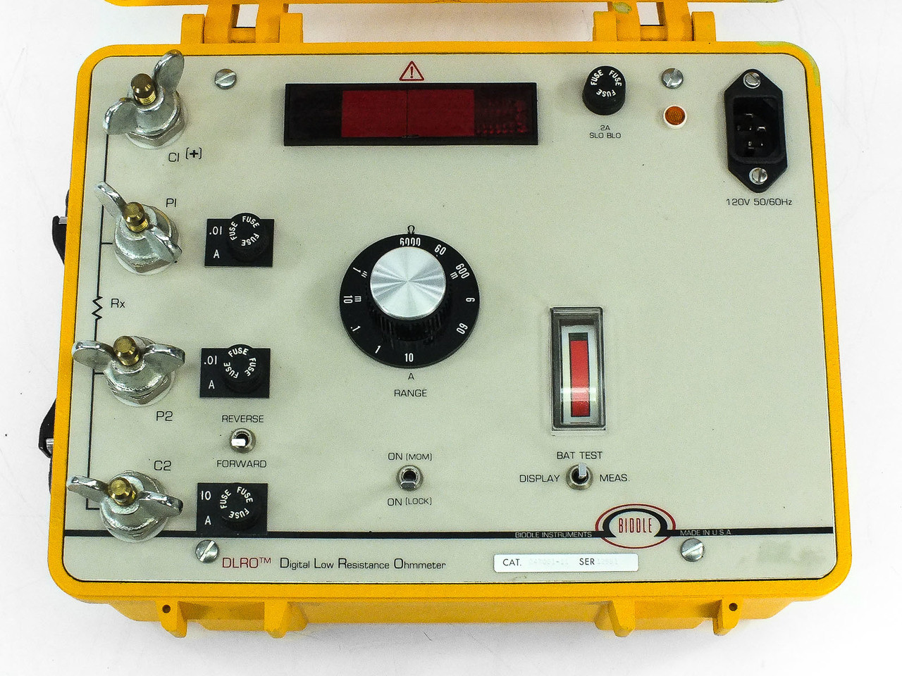 Biddle Instruments 247001 11 Dlro Digital Low Resistance Ohmmeter With Battery Recycledgoods Com