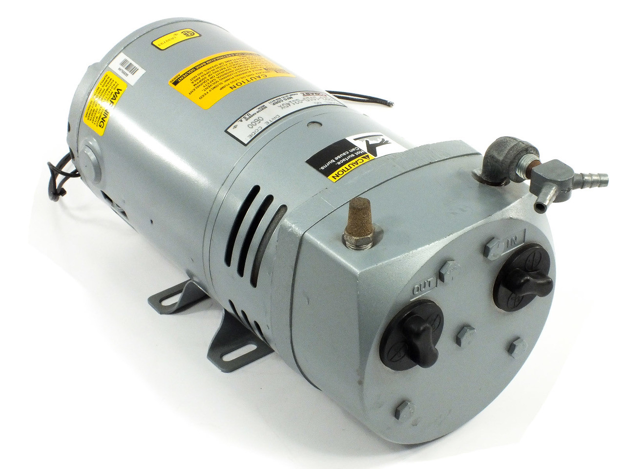 Gast 0323-1010-G314DX Oilless Vacuum Pump 230 Volt AC 2 4 Amp w/ 1/4 HP  Motor