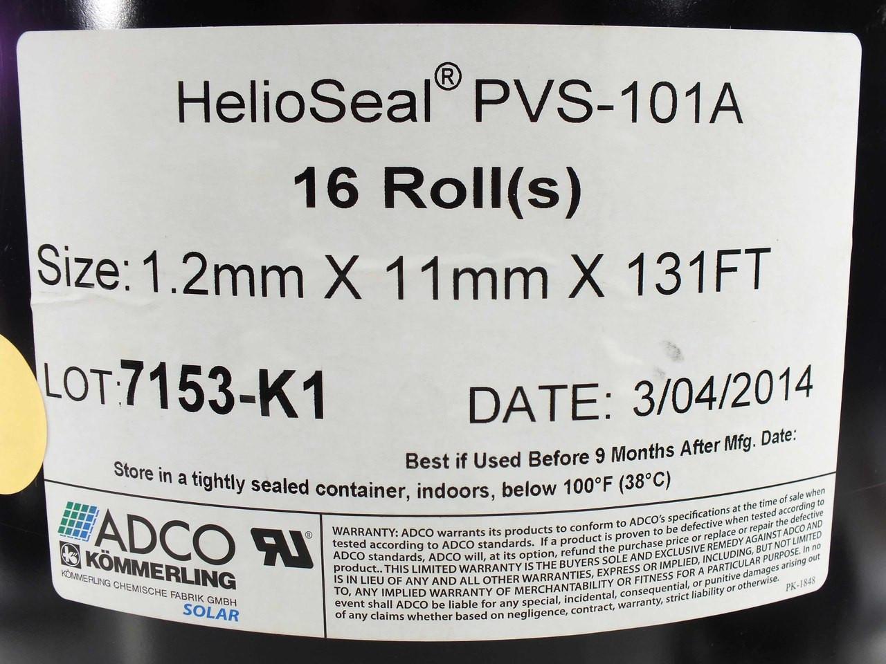 Royal PVS-101 HelioSeal Solar Panel Bonding Sealant 55mm x 10.5mm x 68m