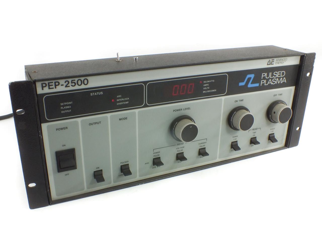 Advanced Energy AE PEP-2500 Pulsed Plasma Bipolar DC RF Power Supply  Generator