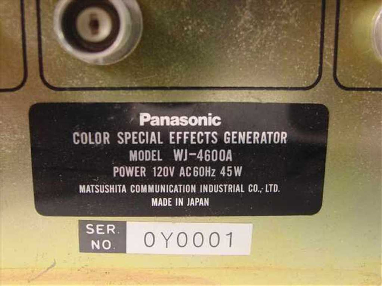 Panasonic Color Special Effects Generator (WJ-4600A)