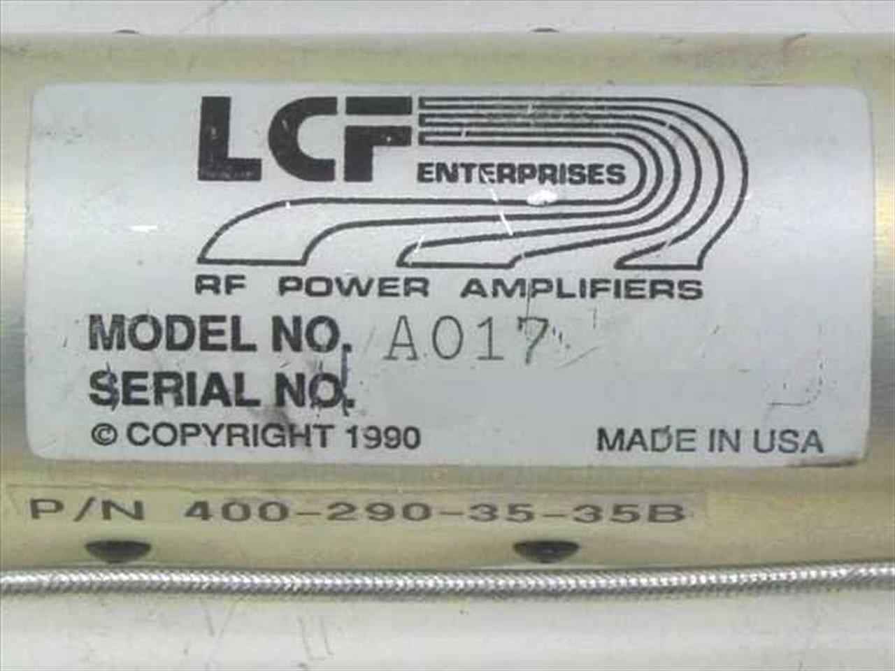 LCF Enterprises RF Power Amplifier with SMA-M Cable Connectors A017