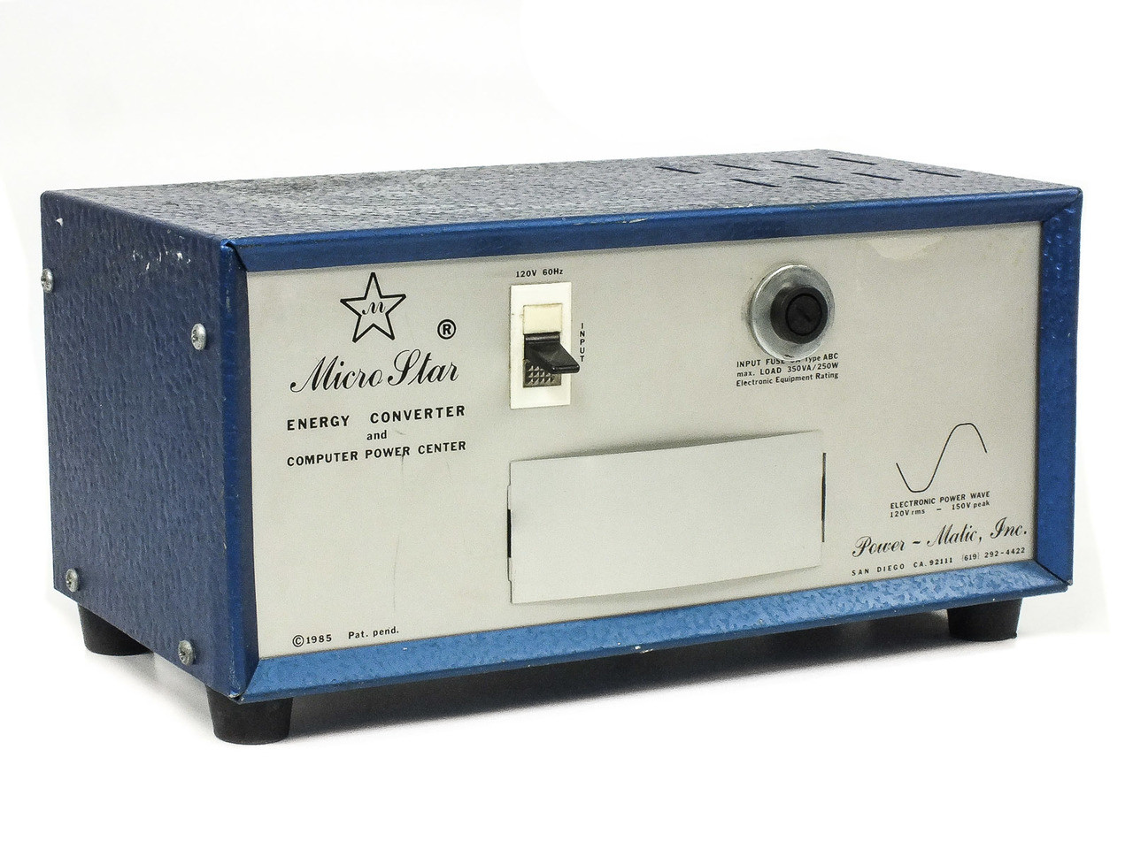 Micro Star MS-136 3-Port 120 Volt AC Energy Converter / Line Filter 10-921