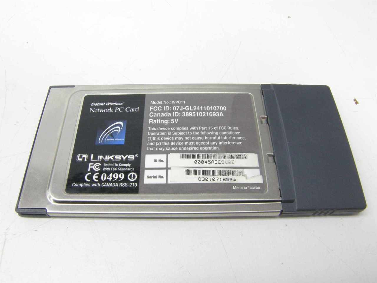 INSTANT WIRELESS NETWORK PC CARD WPC11 DRIVER WINDOWS XP