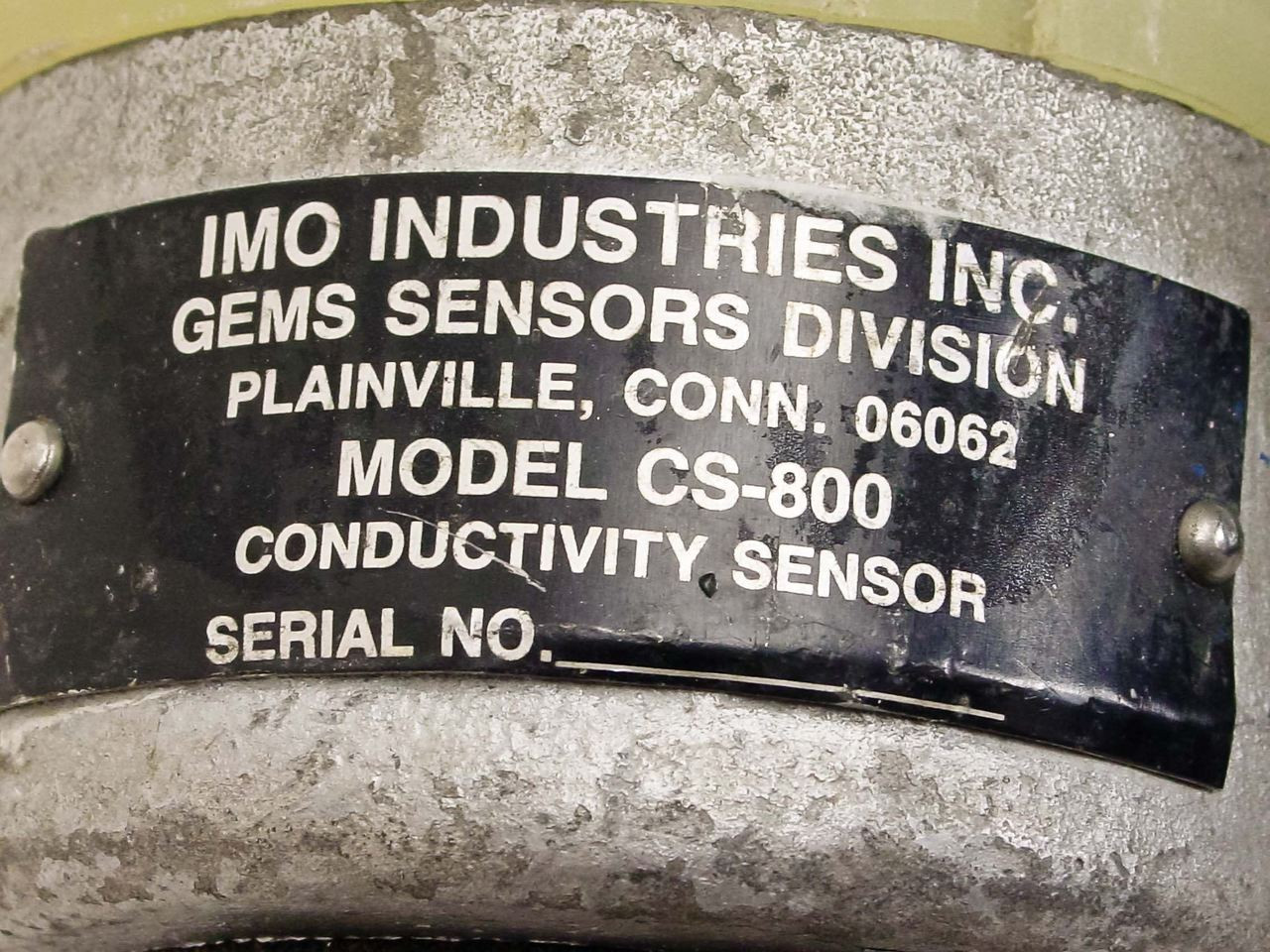 IMO Industries Conductivity Sensor (CS-800)