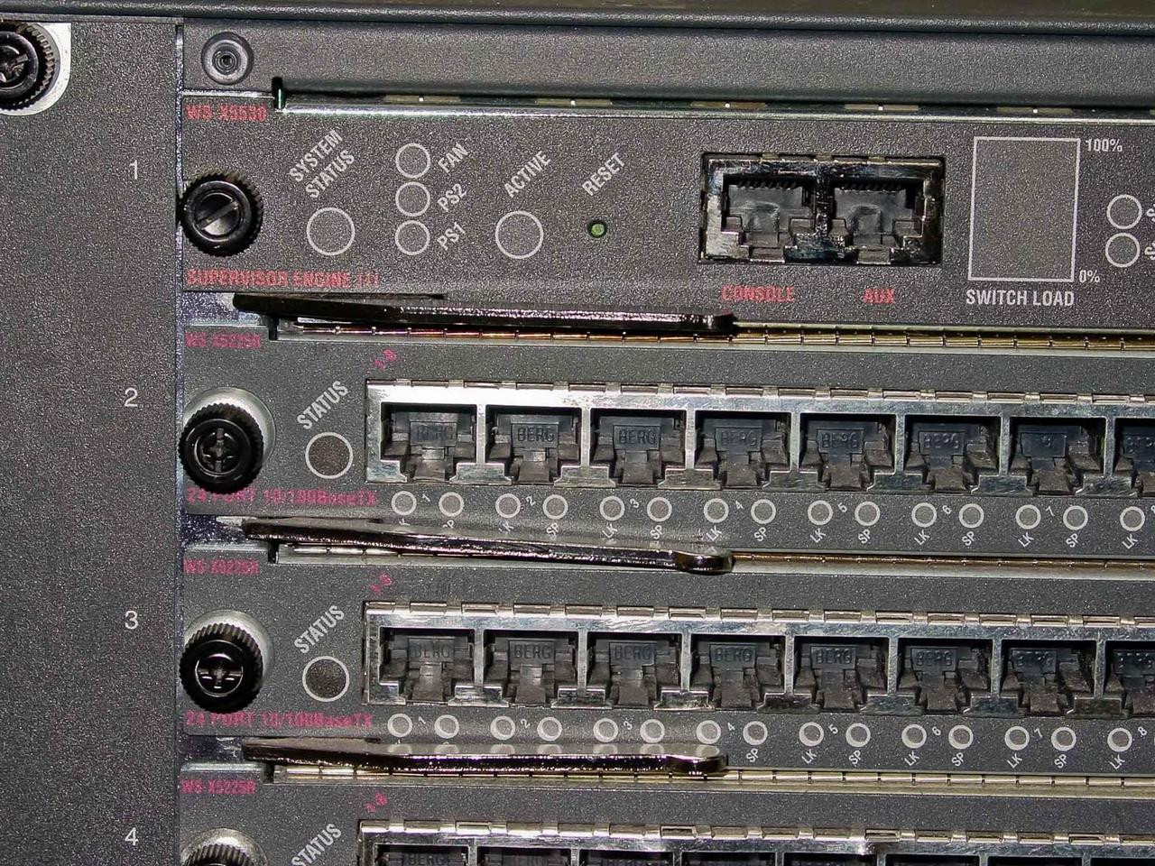 Cisco Catalyst 5500 13 Slot Chassis Loaded Network Cards