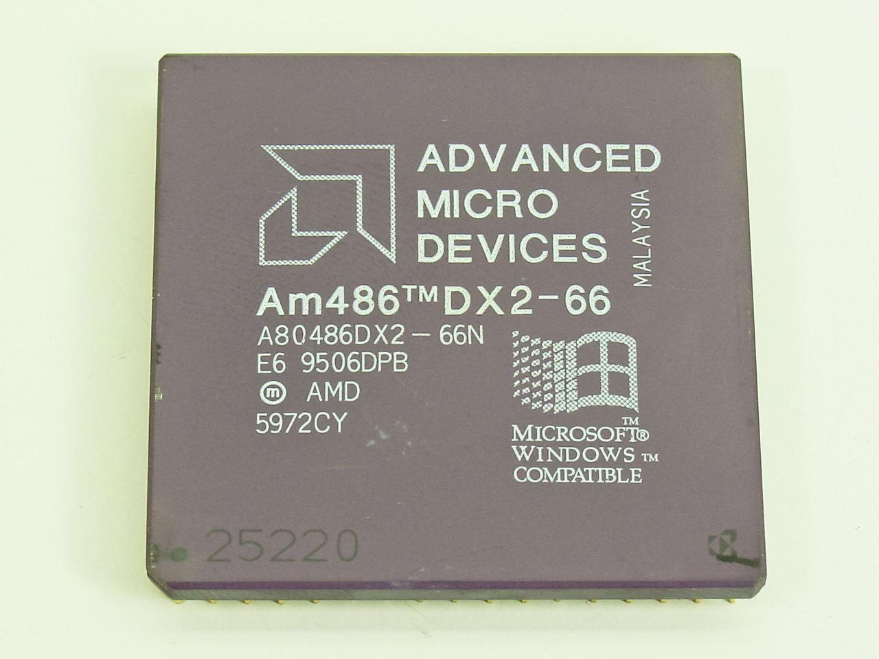 AMD A80486DX2-66N 66MHZ CPU AMD A80486DX2-66N