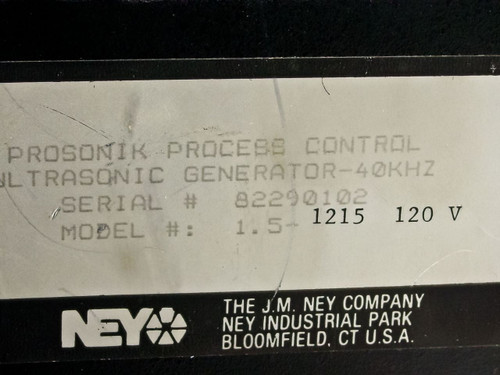Ney Ultrasonics 1.5-1215 40KHz proSONIK Process Control Ultrasonic Generator