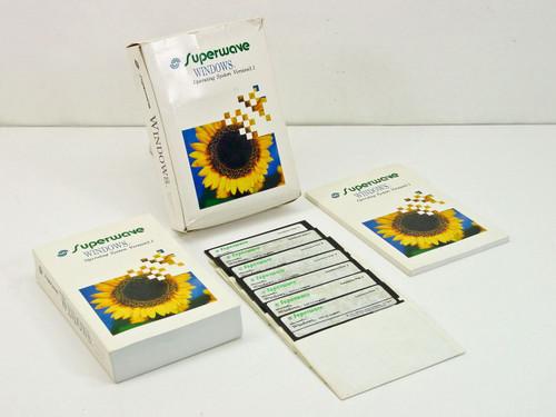 "Microsoft Superwave Windows 3.1 OS 7x 5.25"" Floppy Disks in Retail Box w/ Guides"