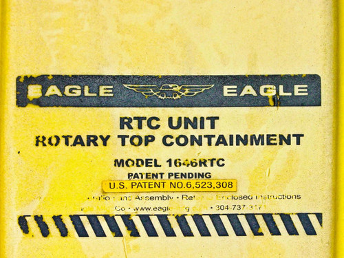 Eagle Rotary Top 55 Gallon Acid Drum Chemical Spill Containment Unit 1646RTC