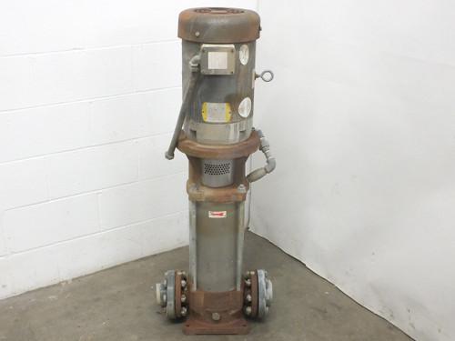 "Goulds Pumps 5SVBK4T Vertical In-Line Process Pump SSV 360PSI 15HP 3.5"" Ports"