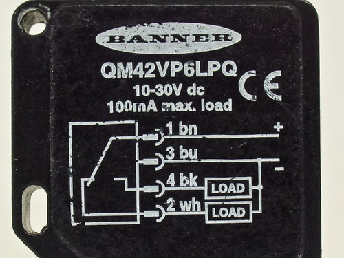 Banner QM42VP6LPQ Photoelectric Sensor 10~30 VDC