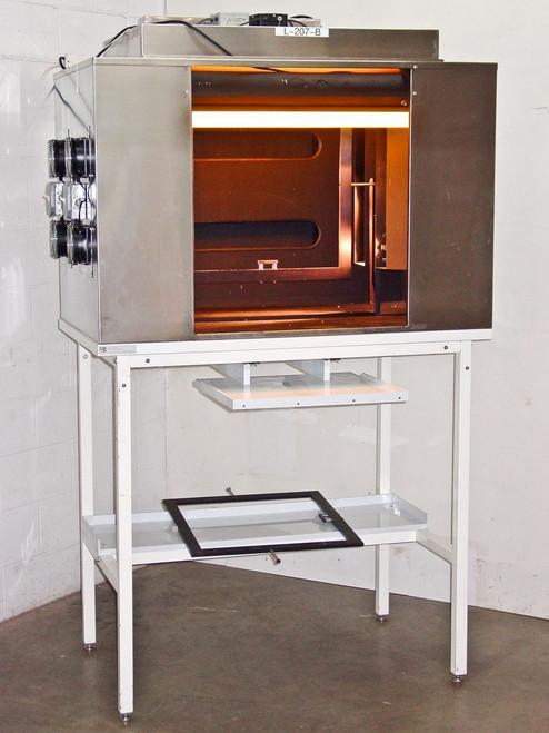 """CRP L-207-B 26x29x30"""" Tall Custom Light Box Chamber w/ Table Stand - F30T12-RS-K"""