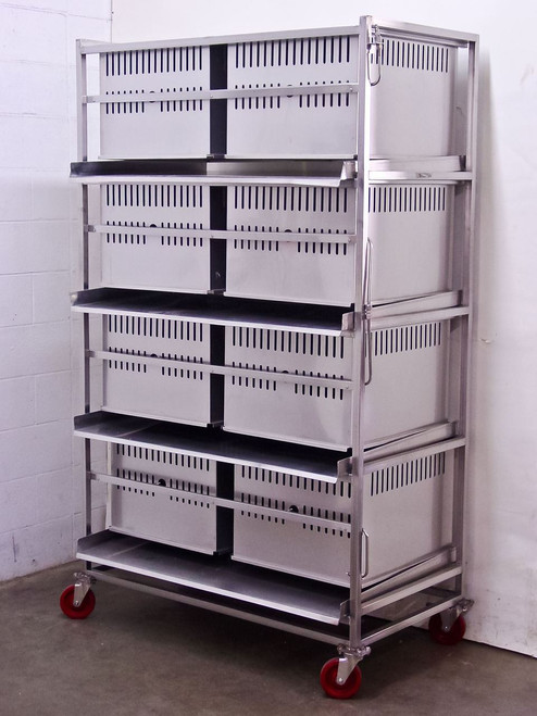 Lab Products Inc Stainless Steel Modular Rabbit Small Animal Cage - 8 cages