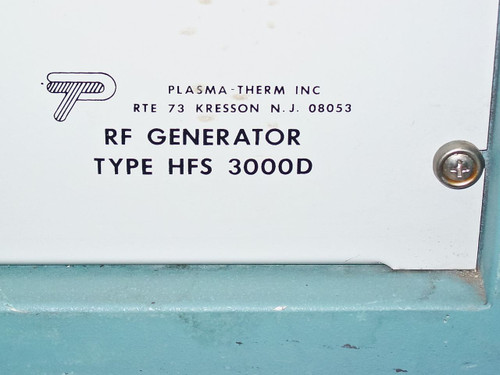 Plasma-Therm Inc HFS 3000D 3kW 13.56MHz RF Generator with Eimac 5CX1500A Tube