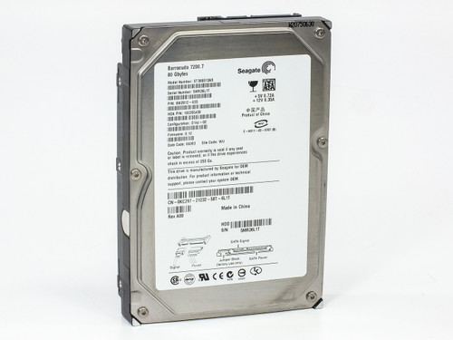 "Dell 80GB 3.5"" SATA Hard Drive by Seagate Barracuda 7200.7 ST380013AS (KC297)"