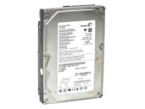 "Seagate ST340014AS 40GB 3.5"" SATA Hard Drive Barracuda 7200.7 9W2015-033 K5805"