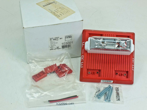 Fenwal 75-000015-001 Multitone Fire Alarm with Strobe 24 Volt DC
