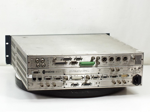 Tandberg E5424 Mpeg-2 Encoder with NDS Board QPSK MOD Option & Cards - As Is