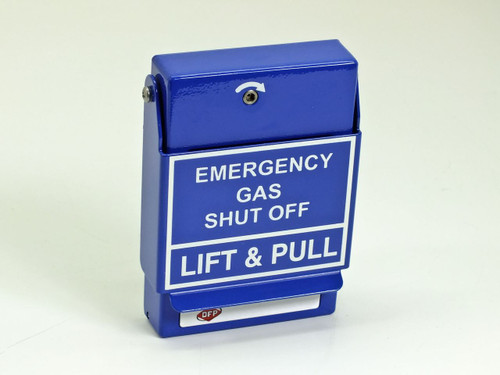 RGS Lift and Pull Emergency Gas Shut Off Station - Blue RMS-2T-LP