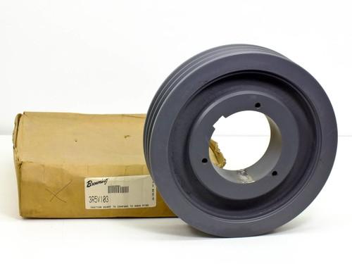 "Browning 3R5V103 3-Groove Gripbelt Split Taper Sheave, OD:10.3"" - ID: 8 7/16"""