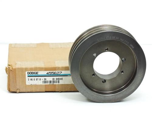 Dodge 455627 3-Groove Sheave A6.6 B7.0 SK 3490 RPM MAZ - New Open Box