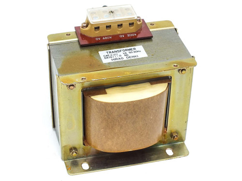 Hirao Denki 400 VA 480V to 200V 1-Phase 50/60Hz Transformer
