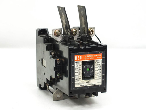 Hitachi AC Magnetic contactor w/o thermal overload relay AC600V H80