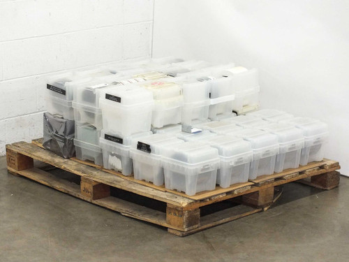 """Entegris 150mm Ultrapak wafershield containers w/ 6"""" used wafers LOT OF 40 BOXES"""
