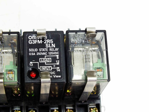Omron G3FM-2R5 SLN Solid State Relay Assembly with HH52PW-L, PYFO8A & G6B-1114P