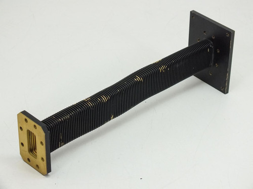 Black  1' Flex waveguide WR-137 C Band 5.85-8.2 GHz 112944-00A
